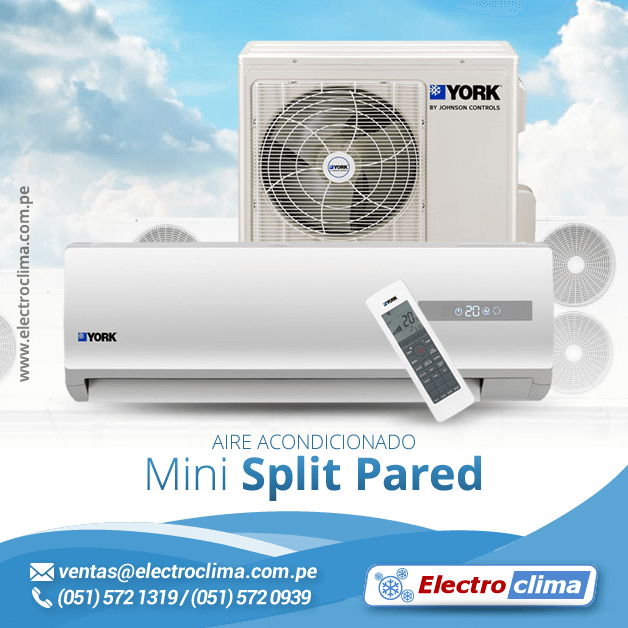 Aire acondicionado mini split pared electro clima lima for Aire acondicionado bosch opiniones
