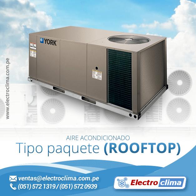 aire acondicionado tipo paquete rooftop