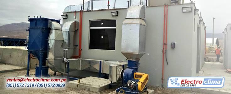 presurizacion y climatizacion de laboratorios de muestras minerales
